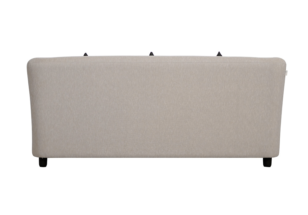 Paris three seater gray colour sofa by spns (back-view)