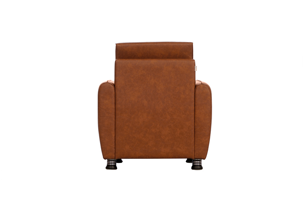 Saffron single seater coffee colour sofa by spns (back view)