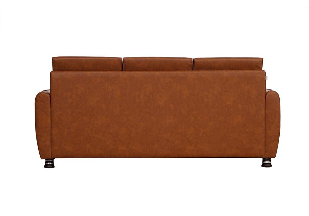 Saffron three seater coffee colour sofa by spns (back view)