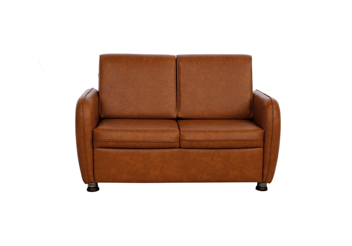 Saffron two seater coffee colour sofa by spns