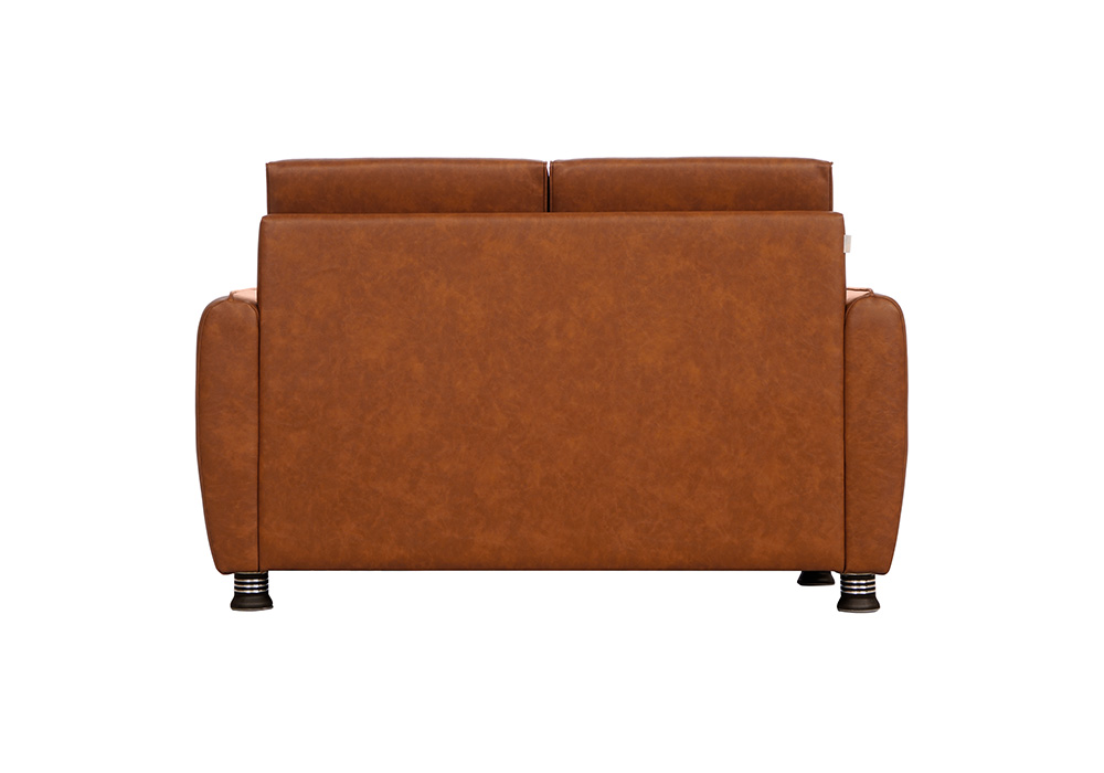 Saffron two seater coffee colour sofa by spns ( back view)