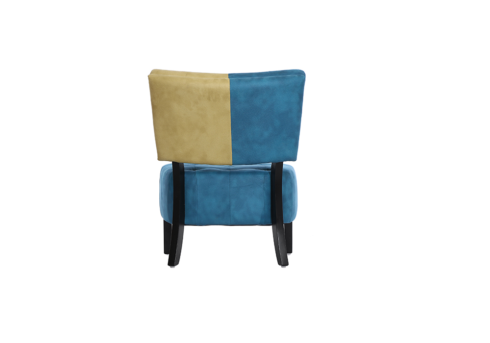Tuck Chair in cream and blue color by spns-backview