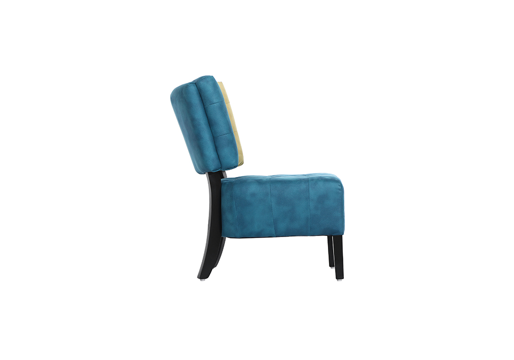 Tuck Chair in cream and blue color by spns-side view