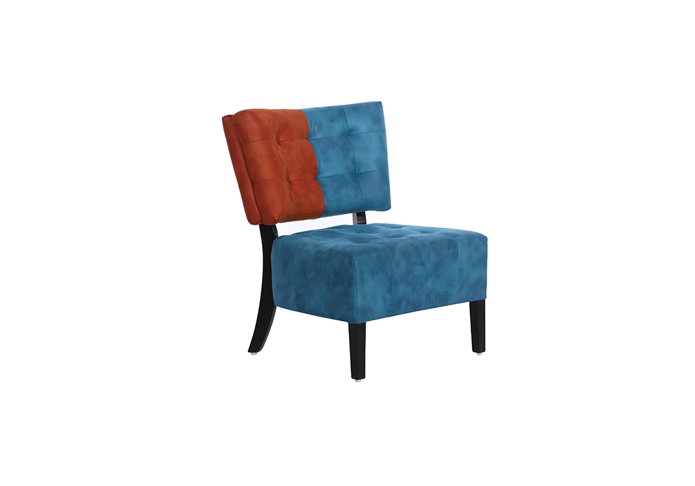 Tuck Chair in red and blue color by spns-isometric view