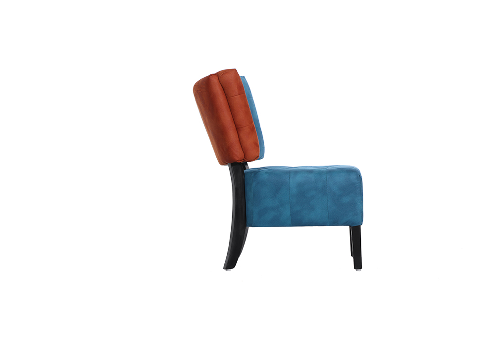Tuck Chair in red and blue color by spns-side view