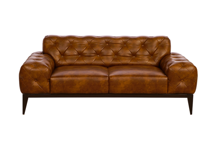 Tufted dark brown colour couch by spns