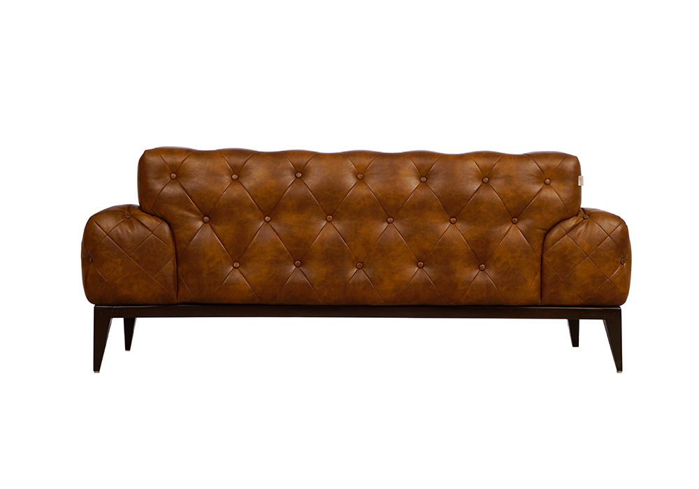 Tufted dark brown colour couch by spns-backview