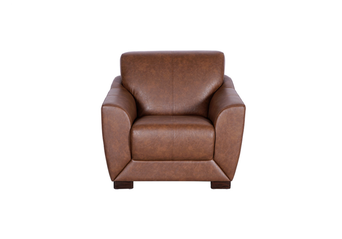 Woodarth Tulip Single Seater Chocolate colour Sofa