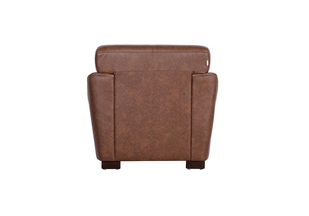 Woodarth Tulip Single Seater Chocolate colour Sofa (back view)