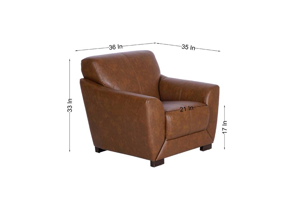 Woodarth Tulip Single Seater Chocolate colour Sofa (dimentions )
