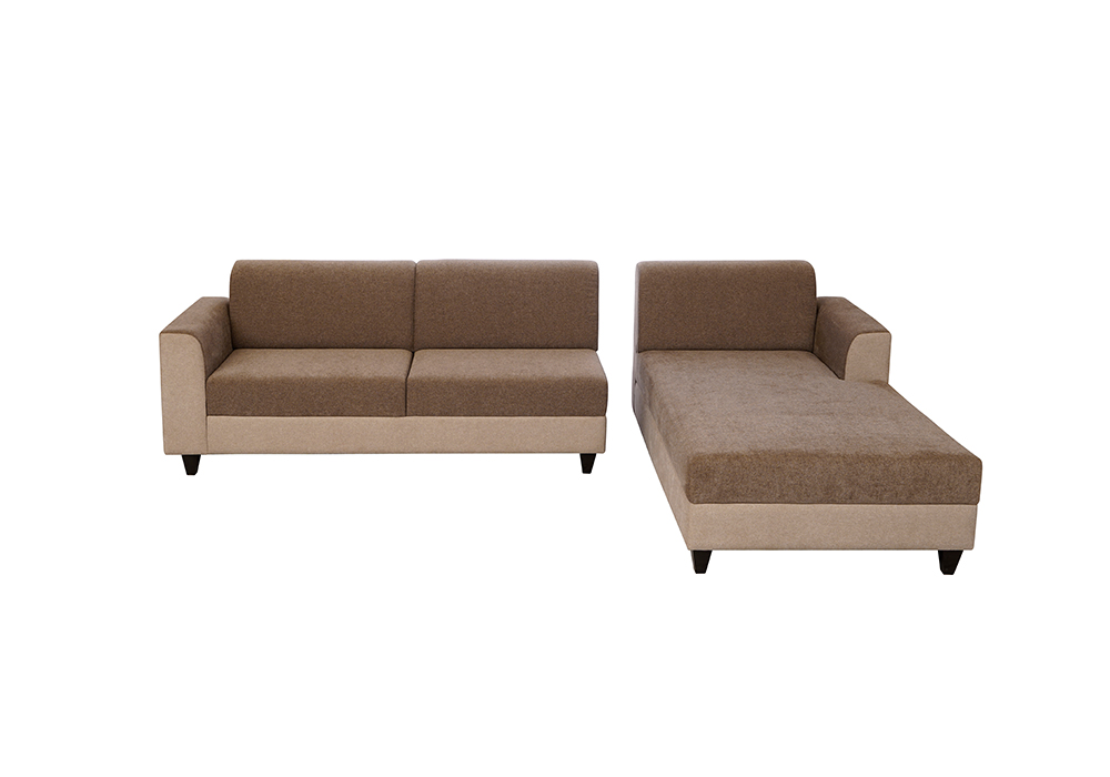 everlast rhs sofa lounjer gray colour by spns ( seperate view)