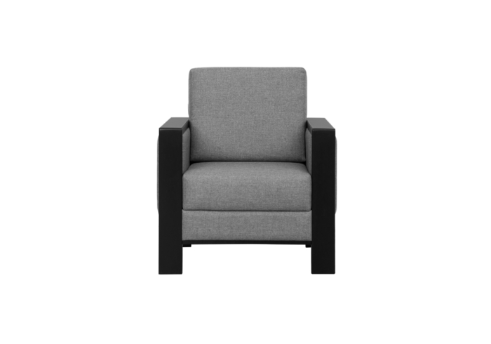 olive single seater gray colour sofa by spns