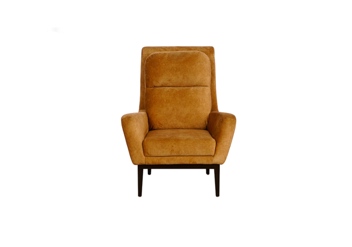 single seater mustered yellow colour sofa by spns