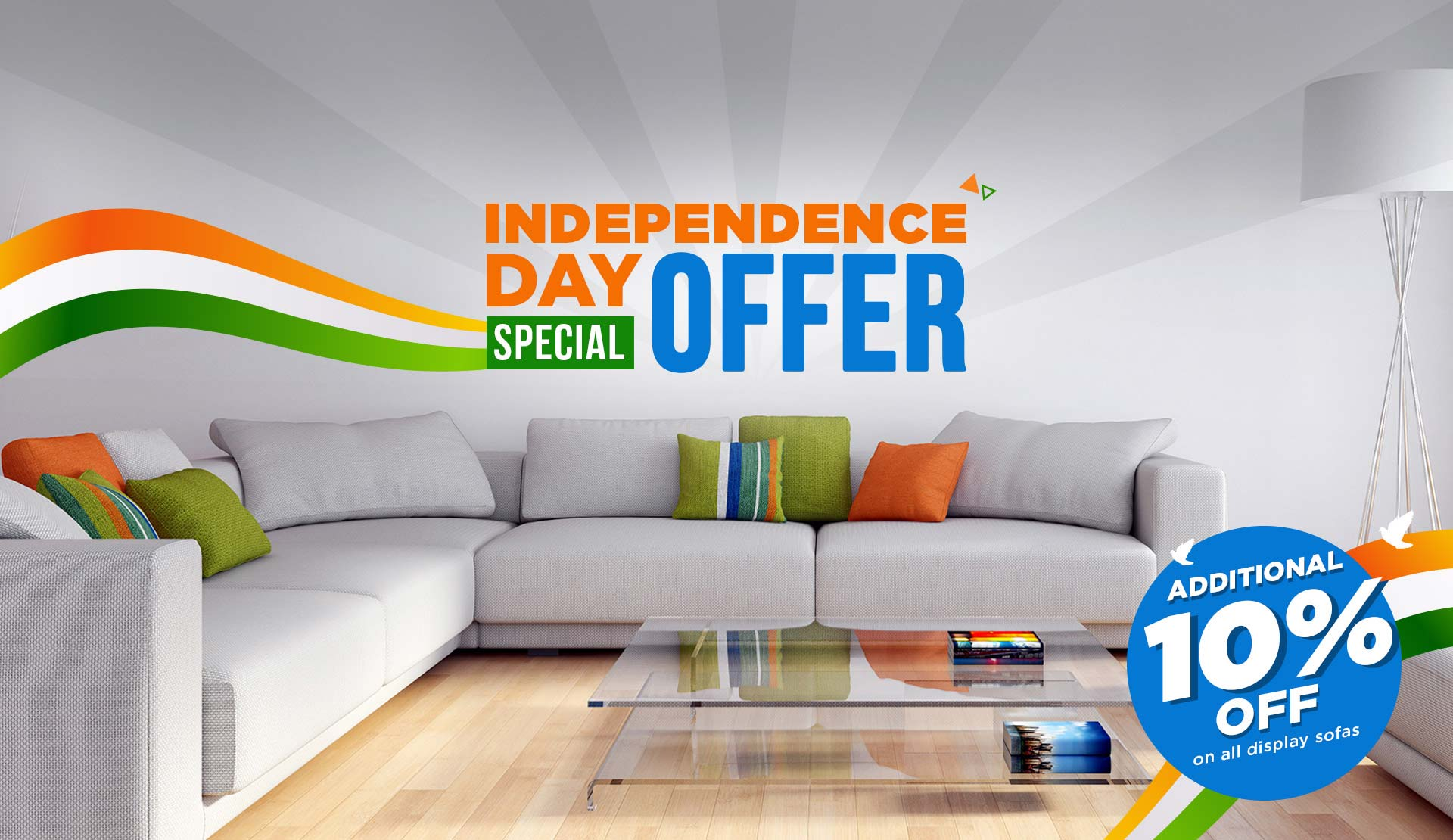 Renovate Your Home & Office with SPNS Sofas at 10% Off